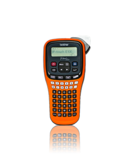 Brother PT-E100VP Handheld Electrician Label Printer-0