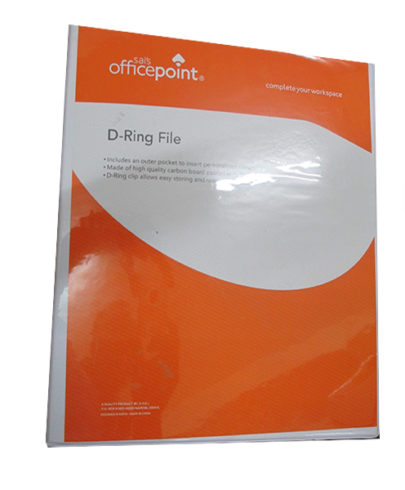 Officepoint D-Ring File White 2020D-0